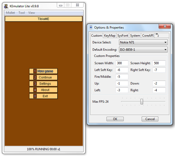 Settingan Kemulator Widht 300 dan Height 500