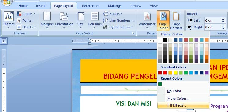 Cara Membuat Background Gambar Di Ms Word 2007