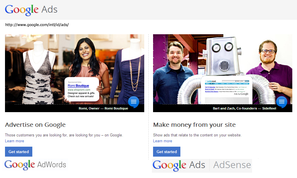 google personal ads