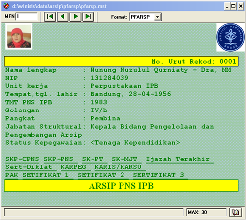 Cara Membuat Database Personal File