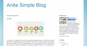 Template Simple nya Blogspot