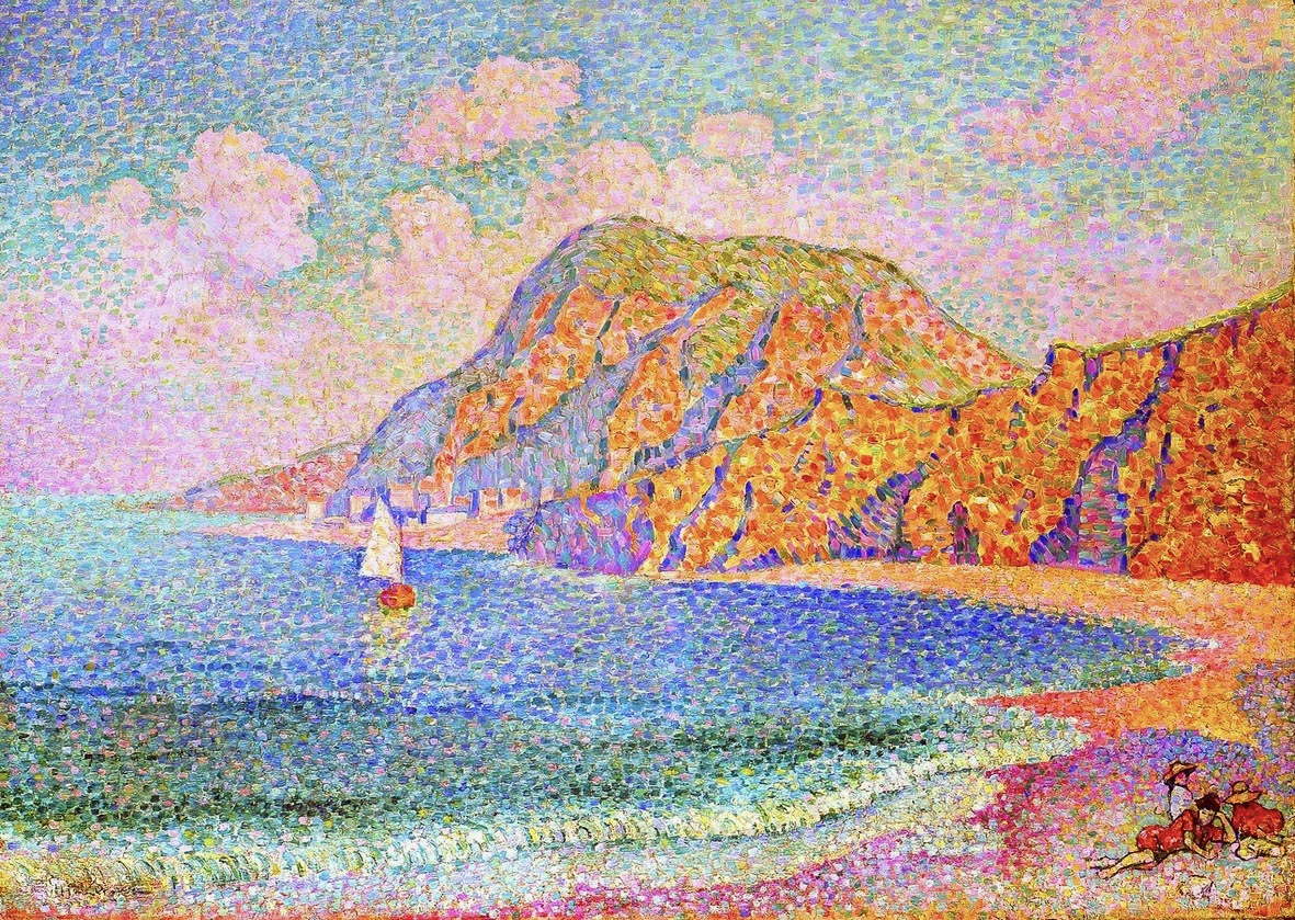 Jean Metzinger, 1904-1905, Bord de mer, The sea shore, oil on canvas, 64.5 x 91.2 cm Indianapolis Museum of Art, 150dpi