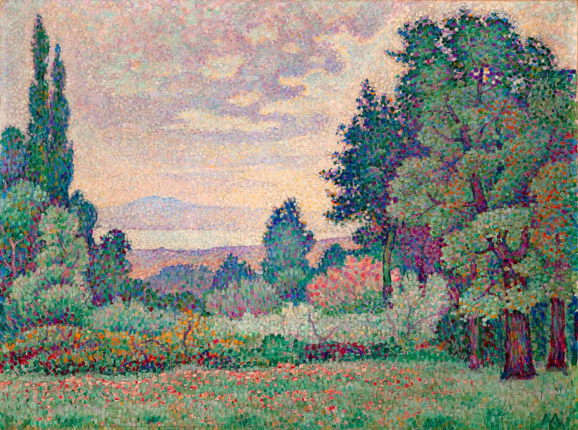 Jean Metzinger, 1904-1905, Paysage au deux Cypres, oil on canvas, 60.1 x 81.2 cm, private collection 150dpi