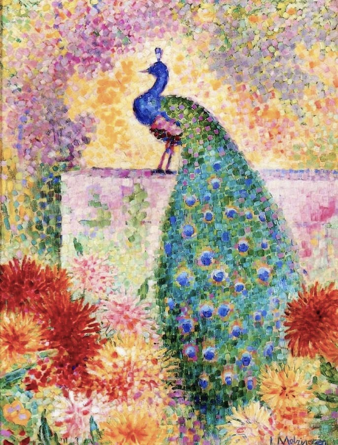 Jean Metzinger, 1906, A Peacock, oil on canvas, 61 x 47.2 cm b
