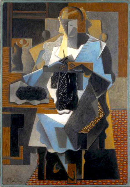 Jean Metzinger, 1919, La Tricoteuse, oil on canvas, 116.5 x 81 cm, Centre Georges Pompidou, Musée National d'Art Moderne, Paris, France