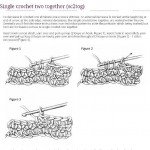 Ini cara membuat rajutan Single Crochet Two Together (sc2tog).