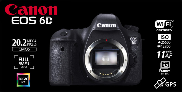 Product Canon EOS 6D Body Only