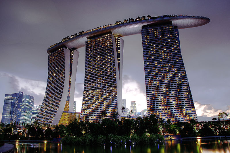 Marina Bay Sands from the gardens