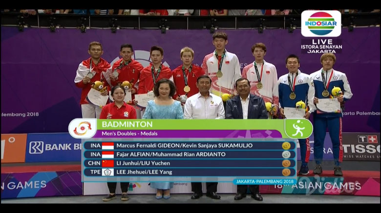 Juara Badminton Double Pria di Asian Games 2018